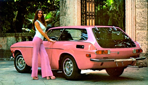 1973 Playboy Playmate of the year with her pink 1800ES