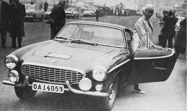 Ewy Rosqvist, Swedish Rally Driver with a Volvo P1800