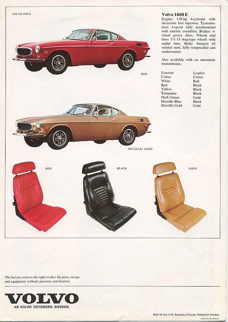 Brochures Volvo P1800