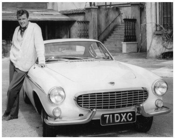 Roger Moore, the Saint with the first P1800 used in the TV series